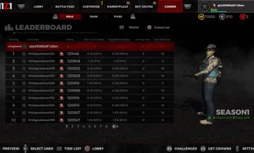 H1Z1 – Season 3 Update | RANKED LEADERBOARDS